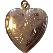 Gold Filled Heart Locket Charm or Pendant