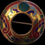 Celtic Enamel Book of Kells Brooch