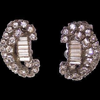 Vintage Kramer Rhinestone Earrings