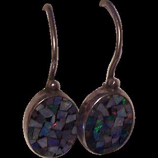 Opal Mosaic Sterling Silver Earrings