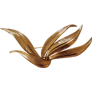 Grosse Germany 1962 Stylized Gold Plated Brooch