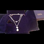 Elizabeth Taylor La Peregrina Simulated Pearl Pendant Necklace