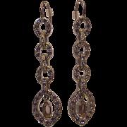 Monet 4 Tier Rhinestone Dangling Earrings