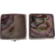 Sterling and Abalone Mexican Earrings