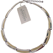 Bijoux Givenchy Enamel Silver tone Necklace with Tag
