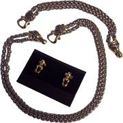 Silver tone & Gold tone Designer Style Double Rope Chain Set