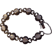 Sterling Silver Marcasite & Mother of Pearl Bracelet