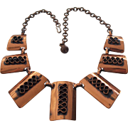 Mid Century Modern Copper Necklace
