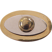Modernist Silver and Gold/Brass tone Brooch