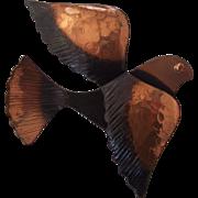 Rebajes Copper Swallow Bird Brooch Modernist