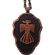 Bell Trading Post Copper Thunderbird Pendant Necklace