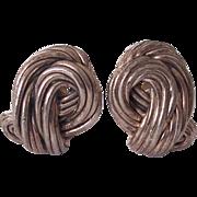 Pr Bat Ami Sterling Silver Modernist Earrings Israeli