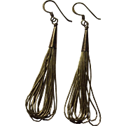 Sterling Liquid Silver Cone Dangle Southwestern Earrings