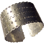 Wide Aluminum Cuff Bracelet Abstract Designs