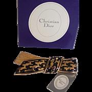 Christian Dior Enamel Bow Brooch w/ Tag and Box