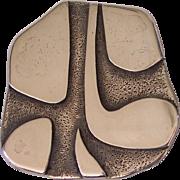 Fabulous HAYNER Sterling Silver Modernist Pendant Brooch