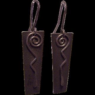 Myron Panteah Zuni Navajo Sterling Earrings