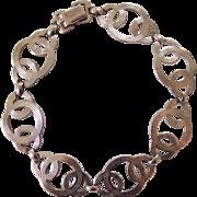 WRE Sterling Silver Interlocking Circles Bracelet W.E. Richards