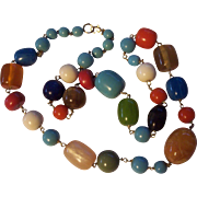 Fun Colorful Big Lucite Necklace