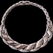 Kramer Industrial Modern Style Silver tone Necklace