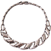 Kramer Industrial Modern Style Silver tone Necklace