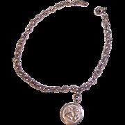 Sterling Silver Cherub Charm Bracelet Italian