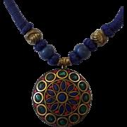 Striking Ethnic Tribal Pendant Necklace