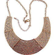 Egyptian Style Cleopatra Collar Necklace Gold tone