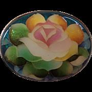 Vintage Japanese Ginbari Enamel Cloisonne Floral Brooch