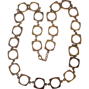 Wonderful Mod Necklace in Gold tone