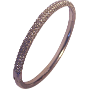 Swarovski Crystal Pave Rhinestone Bangle Bracelet Silver tone