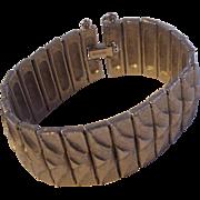 Wide Puccini Silver tone Bracelet