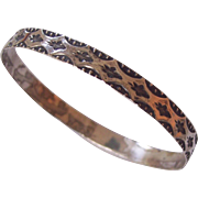 Sterling Silver Bangle Bracelet Nice Design Jewel Art #1