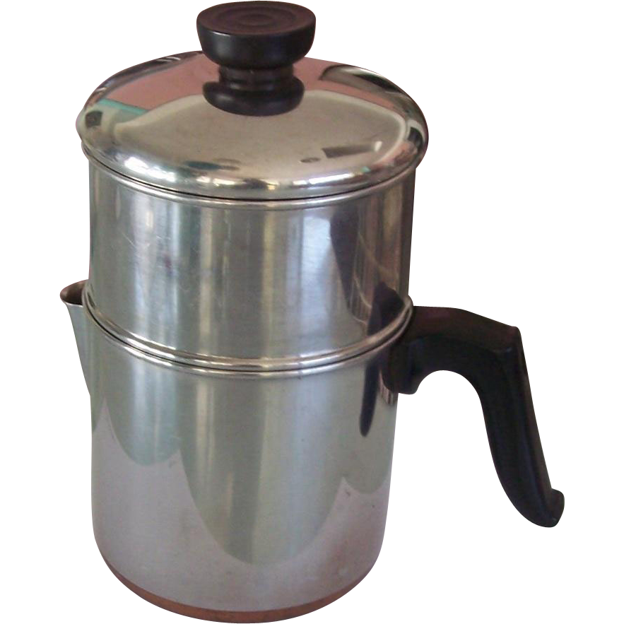 Revere Ware Copper Clad Drip O Lator Coffee Pot 4 C From