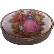Courting Couple Fragonard Pill Trinket Box