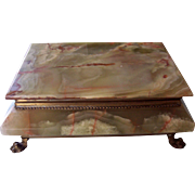 Large Green Onyx Marble Jewelry Box