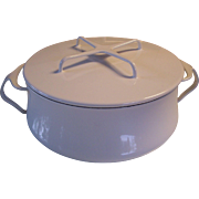 Dansk Kobenstyle White Enamel France 3 Q/L Cooking Pot Dutch Oven Jens Quistgaard