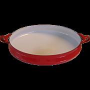 Dansk Kobenstyle Red Enamel Large Paella Pan France Jens Quistgaard