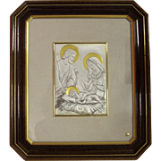 Sterling Silver Italy Holy Family Romagnoli Wall Plaque Zeta Studio d'arte