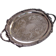 Hold for Gladys Large Sheridan Fine Silver Plate Tray Platter
