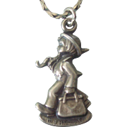 Sterling Silver Hummel Boy with Suitcase and Umbrella Charm