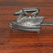 Antique Cast Iron Swan Shaped Doll Or Toy Iron