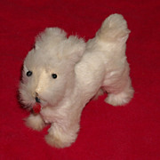 Cute White Miniature Scotty Dog For Your Little Dolls