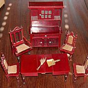 Amazing Antique Schneegas Dollhouse Dining Set