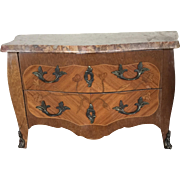 Antique French Doll Marble Top Commode