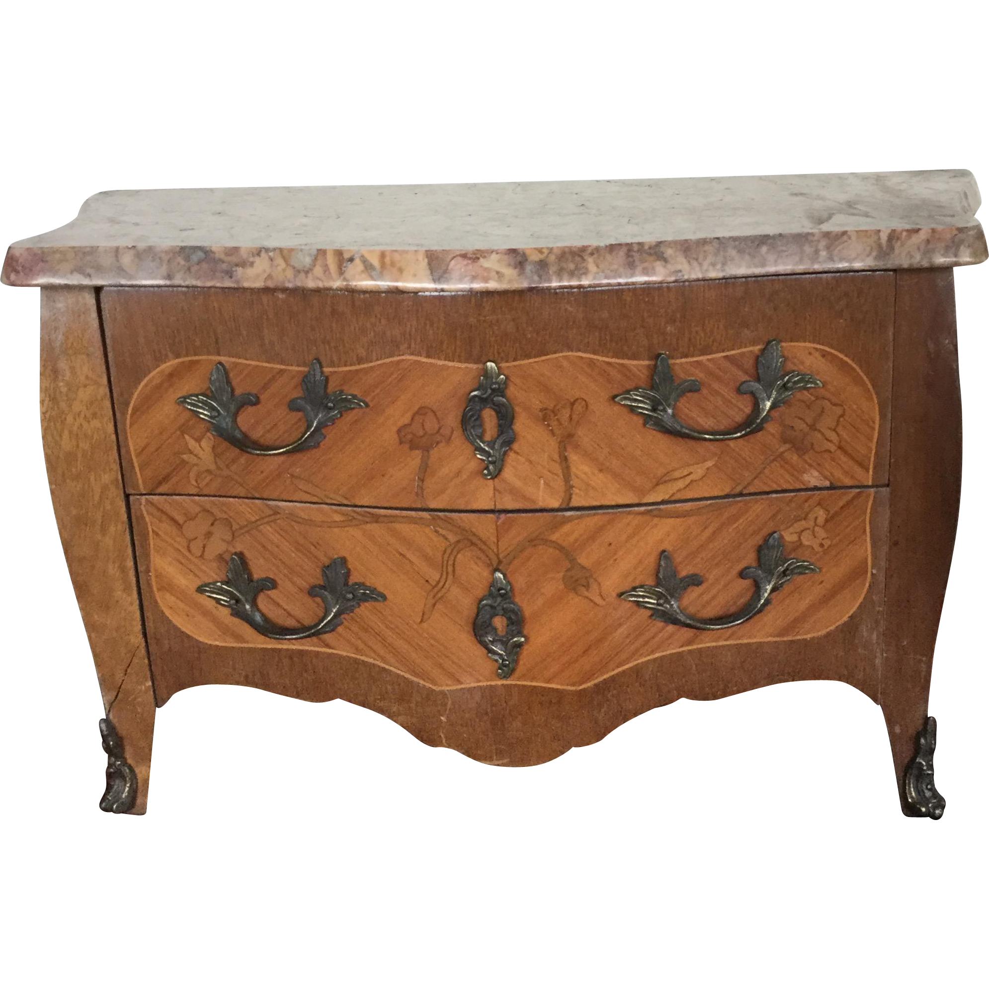antique french doll marble top commode from cadeaux on ruby lane. Black Bedroom Furniture Sets. Home Design Ideas
