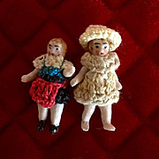 Pair of tiny antique Carl Horn Doll