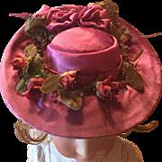Beautiful Vintage Doll Hat