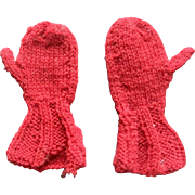 Antique Red Doll / Teddy Bear Mittens