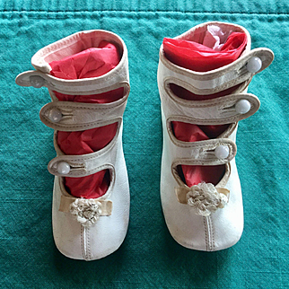 Perfect Pair of Antique Shoes For Large Doll